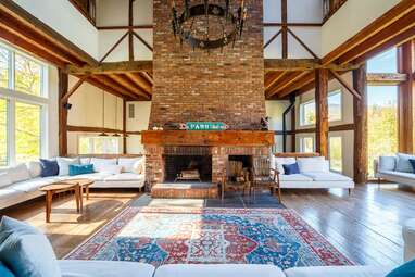 A converted barn near Woodstock with views of Overlook Mountain