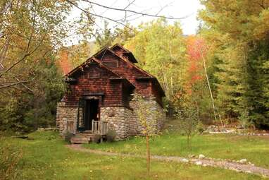 A historic icehouse surrounded by 900 acres of private wilderness