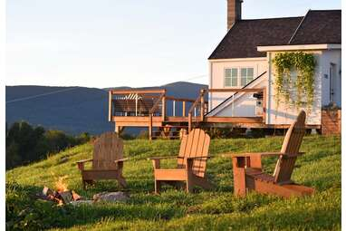 A historic schoolhouse perched in the Green Mountains