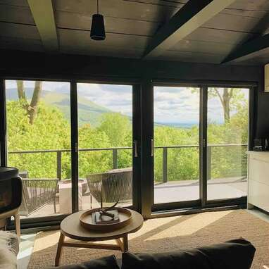 A modern cabin in the Catskills
