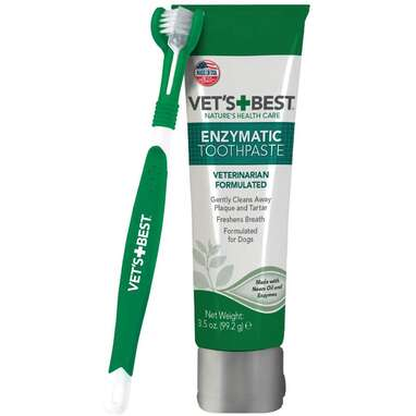 Vet's Best Enzymatic Dog Toothpaste and Brush