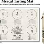 Mezcal Tasting Mat  Mezcal Tasting Party  Mezcal Rating  | Etsy