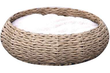 PetPals Handmade Paper Rope Round Bed
