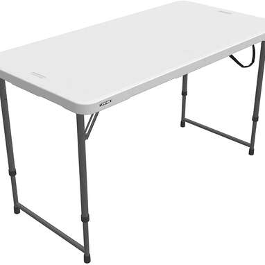 LIFETIME Adjustable Craft Camping and Utility Folding Table