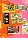 Japanese snacks and drinks