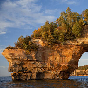 Lover's Leap Arch at Pictured Rocks National Lakeshore
