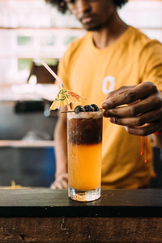 tiki drink at Gilly Brew Bar