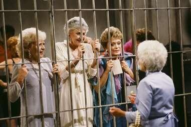 the golden girls, golden girls in jail