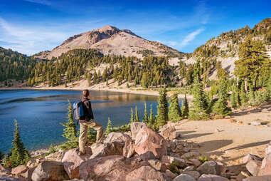 hiker enjoys the view