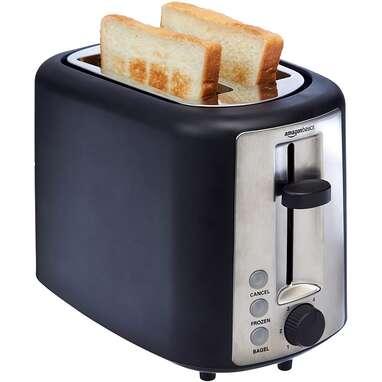 Amazon Basics 2 Slice, Extra-Wide Slot Toaster