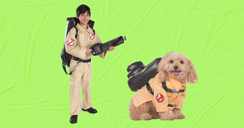 ghost busters dog and baby costume