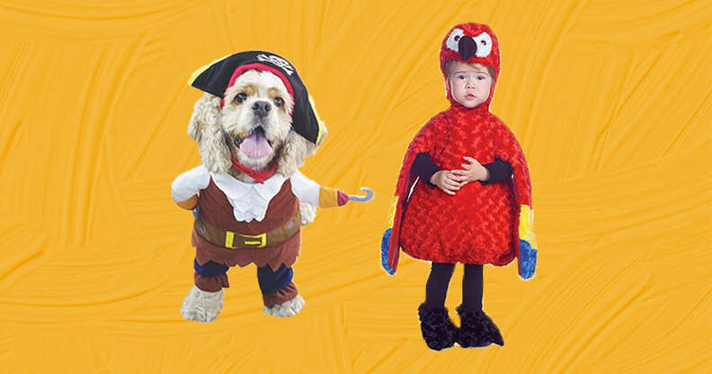 Pirate dog and parrot baby costume