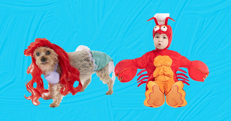 Ariel and Sebastian Dog and Baby costume