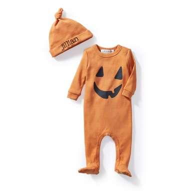 Kids Halloween One Piece Pajama & Hat Set