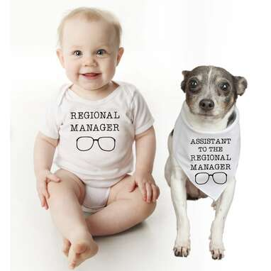 Regional Manager Dog and Baby Set