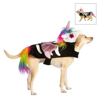 Thrills & Chills Halloween Skeleton Unicorn Dog & Cat Costume