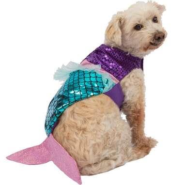 Mission Pets Graceful Purple Mermaid Halloween Pet Costume for Dogs