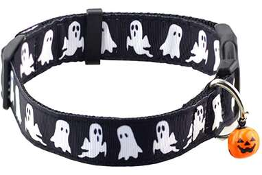 Bolbove Pet Adjustable Halloween Collar with Bell for Dogs