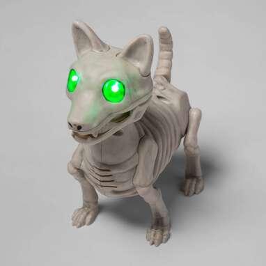 Animated Light and Sound Dog Skeleton Halloween Decorative Prop