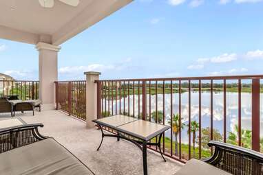 Corner penthouse with lake views and resort amenities