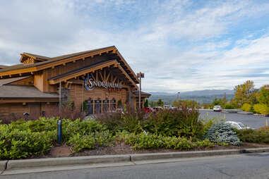 a casino that resembles a woodland lodge