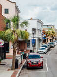 the historic downtown of a southern seaside town