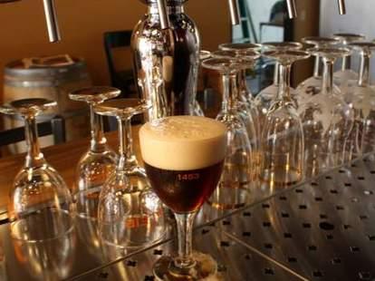 Beer tap at Bazi Bierbrasserie