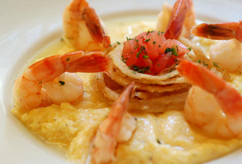 Shrimp and grits at Jekyll Island Seafood Company in Atlanta