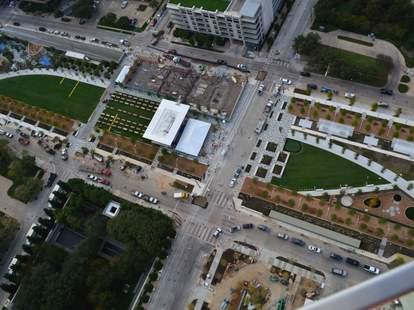 Aerial view of Klyde Warren Park