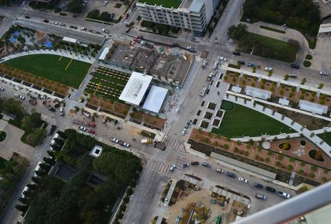 Aerial view of Klyde Warren Park