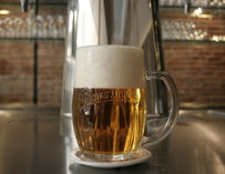 A beer in a beer stein
