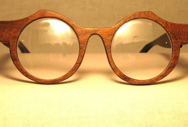 Stylish wooden spectacles that go against the grain