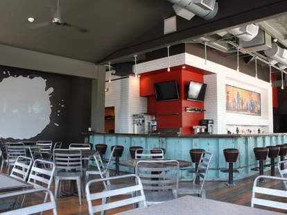 Interior and bar of Grindhouse Killer Burgers