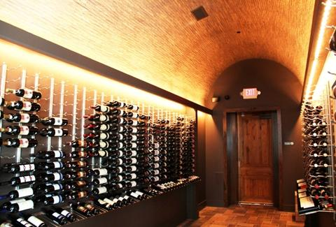 Wine racks at STG Trattoria