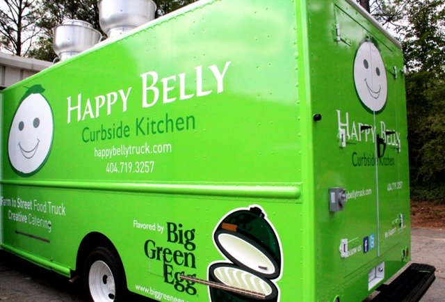 A food truck with a Big Green Egg. Finally.