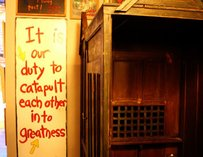 Confessional inside Sister Louisa's