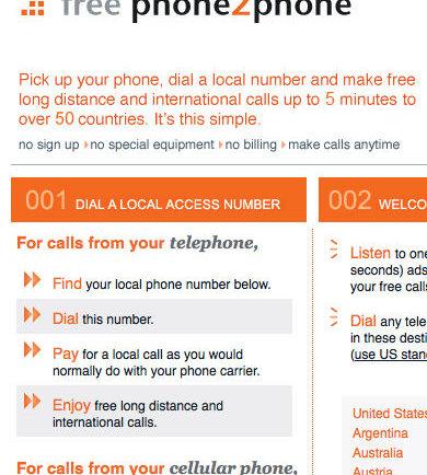 Free Phone2Phone