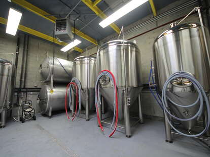 The brewery's inside operations