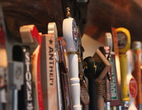 Beer taps at Copper Coin in Seattle