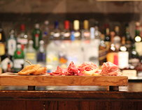 Italian meat and cheese board