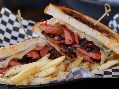 The Red Devil grilled cheese