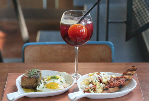 Sangria and brunch dishes at Counterpoint