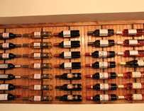 A wall of wines