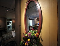 Mirror decoration at Cafe Pettirosso in Seattle