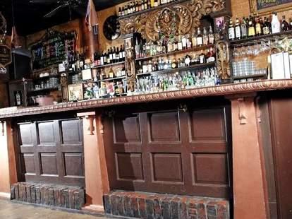 The bar at The Quarter Bar
