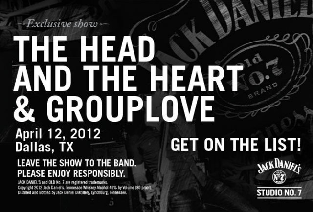 Jack Daniel\'s Brings Grouplove and The Head and The Heart to Dallas