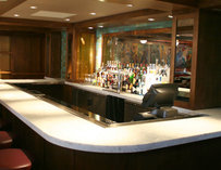 White-topped bar at Towne Stove
