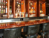 The bar inside Towne Stove
