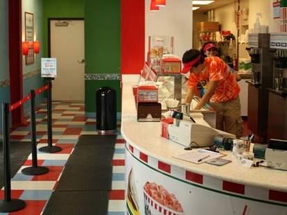 The counter at Rita's