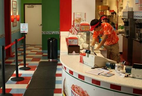 The counter at Rita's